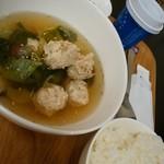 カフェガーデンさら - ごぼう入り肉団子のスープ