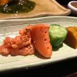 左近太郎 - 焼き鱈子と香の物