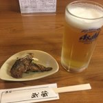 76933754 - ビール&鰯のじんだ煮 ¥300+400