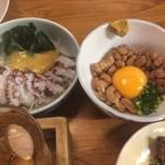 76933769 - 納豆&たこ酢 ¥300+400