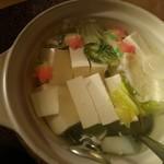 76933935 - 七草湯豆腐です