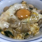76939646 - 親子丼アップ!  真ん中に卵の黄身が乗ってます(^○^)