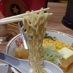 梅光軒 - ◆麺は「ちぢれ麺」、ストレート麺よりこういう麺の方が好きです。