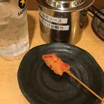 立呑処へそ - 紅生姜串揚げ110円、小さ!