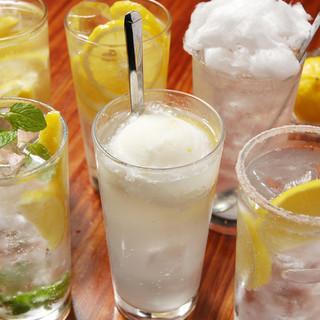 全8種に渡るプレミアムなレモンサワーをご用意!