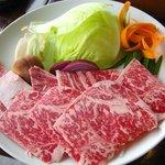 7695467 - しゃぶしゃぶ用の肉と野菜