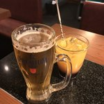 じゅう兵衛 はらみ堂 - じゅう兵衛 はらみ堂(東京都品川区西五反田)生ビール・カシスオレンジ