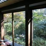 蕎麦御休憩処 しらい庵 - 中からの眺め
