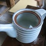 蕎麦御休憩処 しらい庵 - 蕎麦湯 蓋を取りました