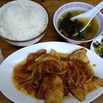 三陽 - 生姜焼き定食 500円