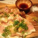 7696565 - はちきん地鶏モモ藁焼き