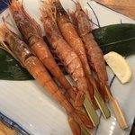 磯丸水産 - 赤海老串焼き