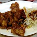 三陽 - みそダレネギ鶏定食 お店の三ツ星メニューです。