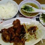 三陽 - みそダレネギ鶏定食 500円