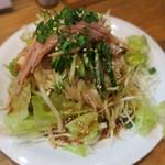 南湖 - 中華豆腐サラダ(ザーサイ入り)