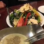 新宿ボンベイ - 彩り野菜サラダ