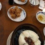 重慶茶樓 - 揚げワンタン、チャーシューまん、海老のすり身のクルトン揚げ