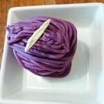 ピッツェリア ピッキ - 紫薩摩芋のモンブランタルト