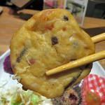 藍風珈琲店 - うじら豆腐 沖縄風のがんもどきって 感じでしょうかね。