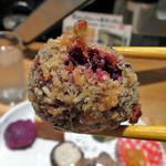 藍風珈琲店 - 紫芋のコロッケ 読んでそのまま。 どれもこれも美味しいのです。