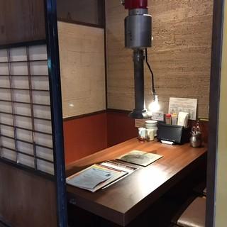 隠れ家的に楽しめる個室がいい雰囲気