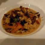 76974452 - ジロル・シャントレル・トランペット・セップ茸のリゾーニ、スープ仕立て