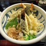 饂飩工房 うばら - エビ天・野菜天ぶっかけ(1000円)