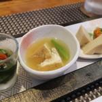 料理家 三 - 料理写真:前菜3皿