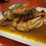 ほぁんほぁん - 料理写真:渡り蟹のブツ切り炒め