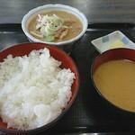 かねや食堂 - もつ煮 ¥600