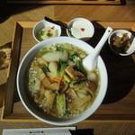 随園別館 - 五目タンメンと水餃子のセット 980円+Tax