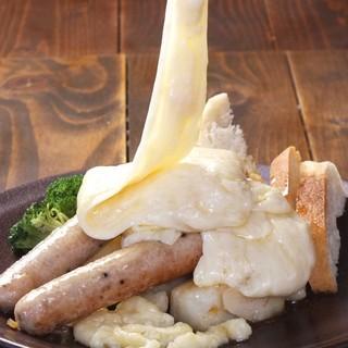 大人気ラクレットチーズあります!