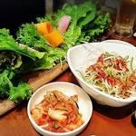 ハチノス - サムギョプサルの野菜