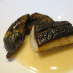 76992771 - 山口県産マナガツオの西京焼き 茄子 味噌とコリアンダーのブールブラン