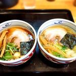 麺屋 藤 - 塩と醤油の食べ比べ