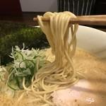 らーめん 会 - 麺は中太ストレート(2017.11.25)