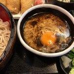 信州 - あつもりそばの麺つゆ卵入り