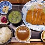 とんかつ亭 天乃家 - 料理写真:特上とんかつ定食(1550円)