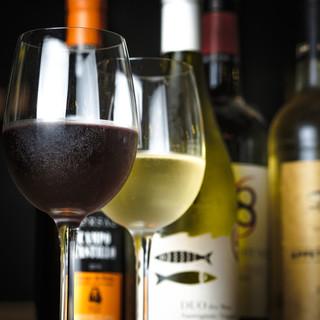 選び抜かれたワインはシーフードとの相性抜群♪