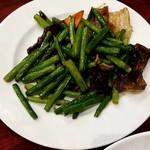 中華料理 大福 - 豚肉とニンニクの芽炒め