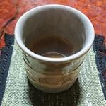 九重園 - お抹茶の後は香ばしいほうじ茶