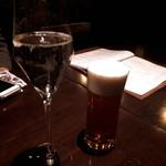 Wine 厨房 tamaya-ohyama - 白ワインとビール