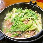 7700570 - けいちゃん定食の鶏鍋部