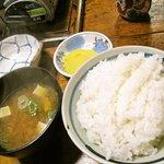 7700572 - けいちゃん定食のごはん&味噌汁