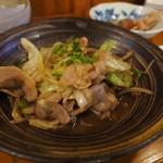 居酒屋コバラヘッタ - 豚肉とキャベツの味ぽん炒め