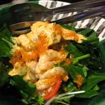SUSHI BAR THE ƎND -縁戸- - エビとアボカドとほうれん草のサラダ
