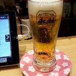 こだわり廻転寿司 まぐろ人 - 生ビール:580円税別
