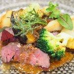 77003111 - ランチコース 2500円 の北海道産牛ハラミ 野菜添え