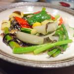 チャイニーズダイニング方哉 - 3,500円ディナーコース、旬野菜炒め