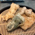 だるまの天ぷら定食 - 肉定食(終盤)